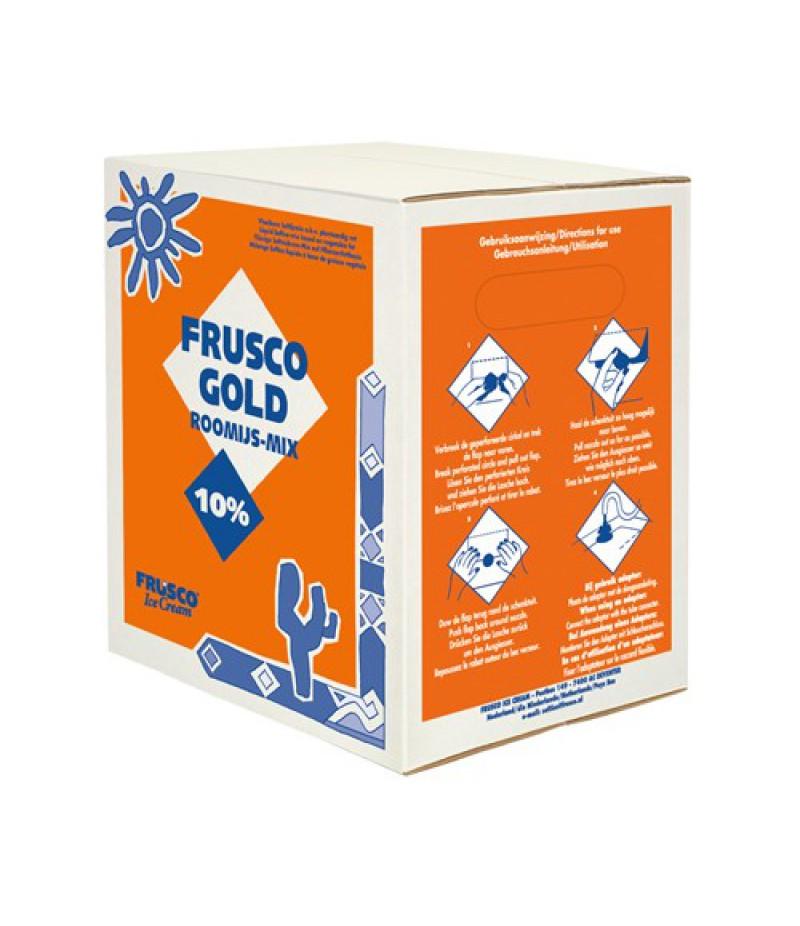 NIC Frusco Gold Roomijsmix Vloeibaar 10% MV 10 Liter