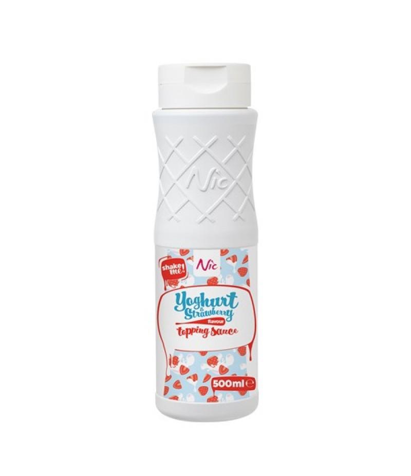 NIC Topping Yoghurt Aardbei 0,5 Liter