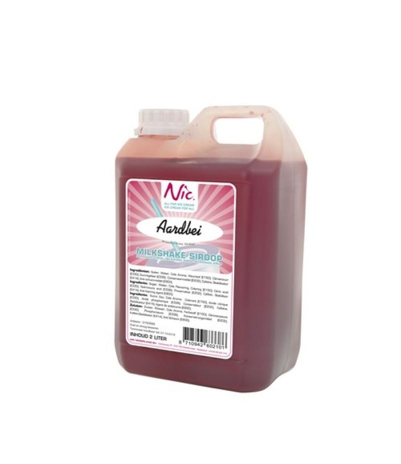 NIC Milkshake Aardbei 2 Liter