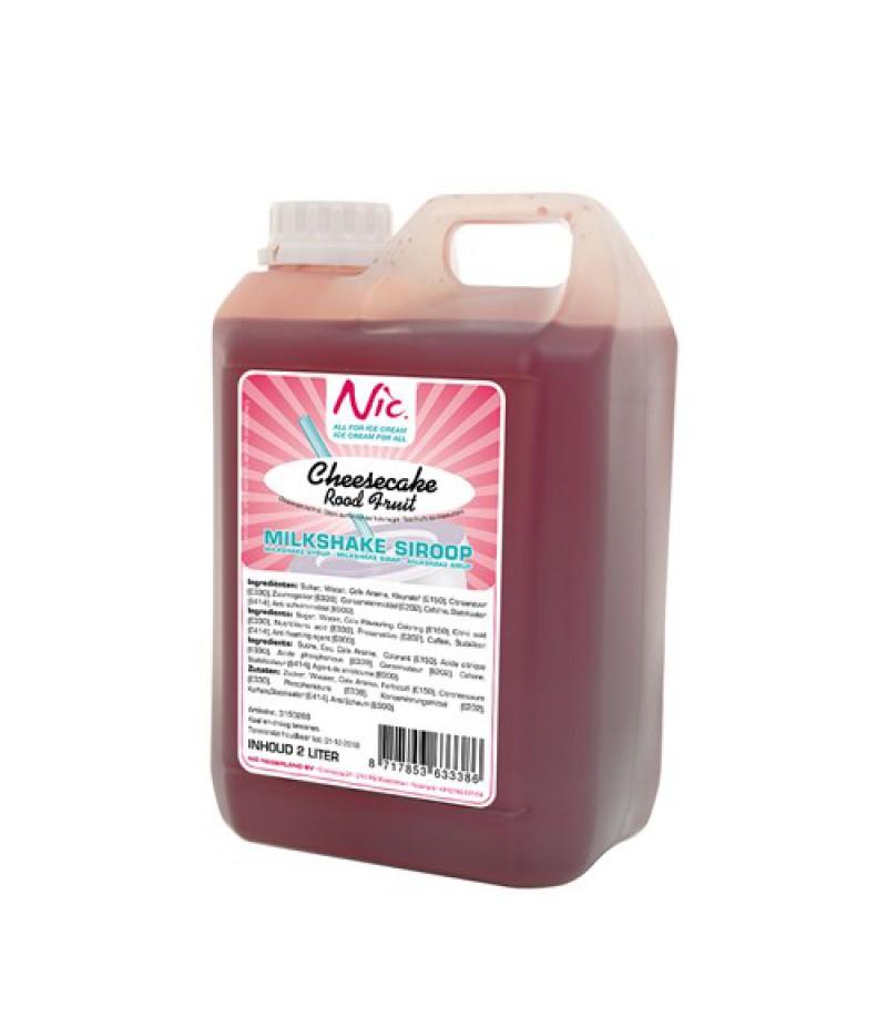 NIC Milkshake Cheesecake Rood Fruit 2 Liter