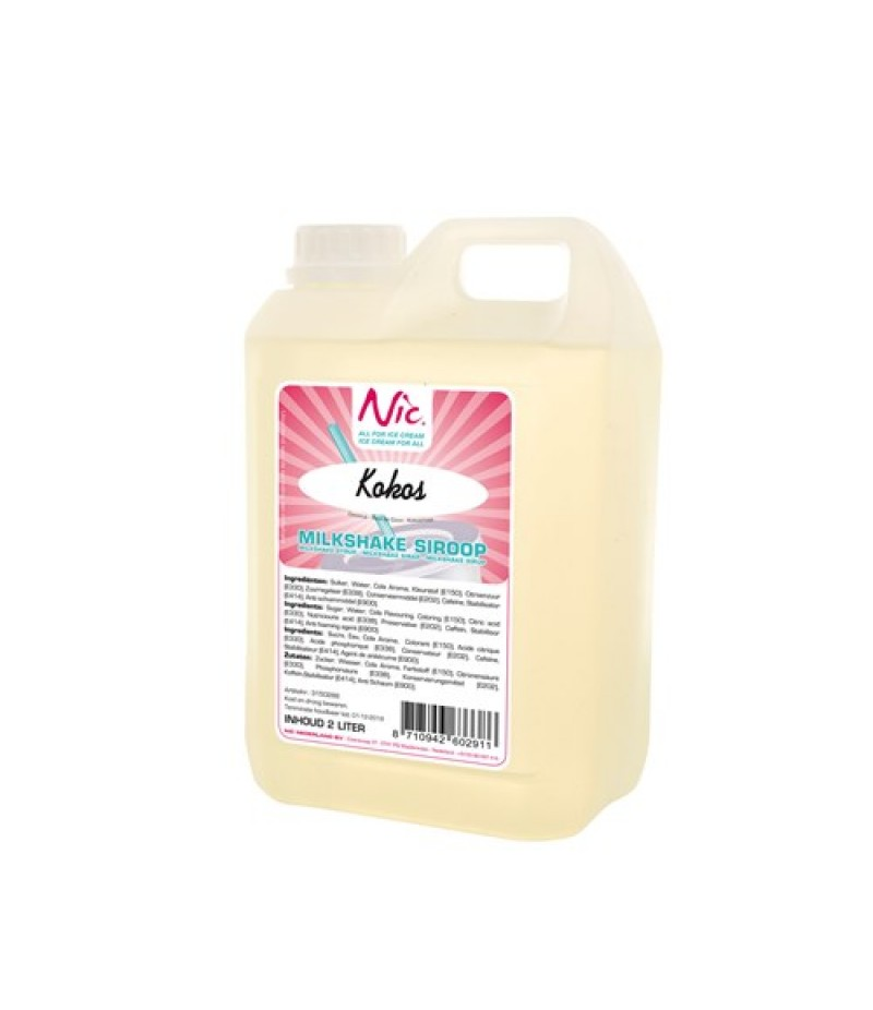 NIC Milkshake Cocos 2 Liter