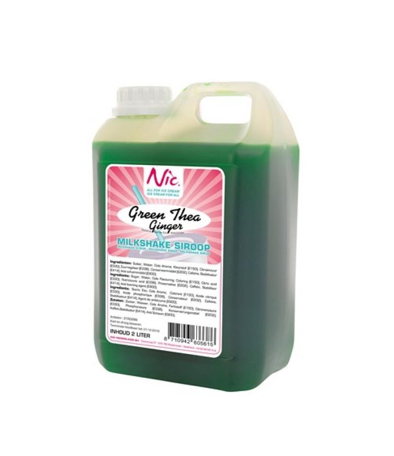 NIC Milkshake Green Tea Ginger 2 Liter