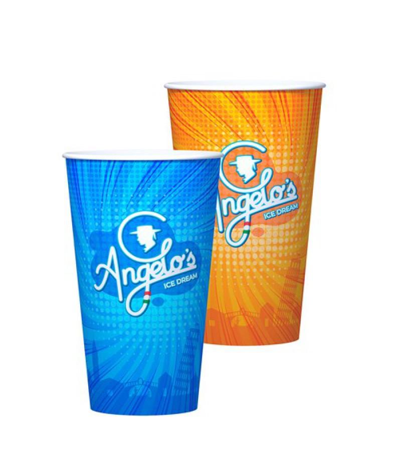 NIC Angelo`s Milkshake-/IJsbeker 500ml 50 Stuks