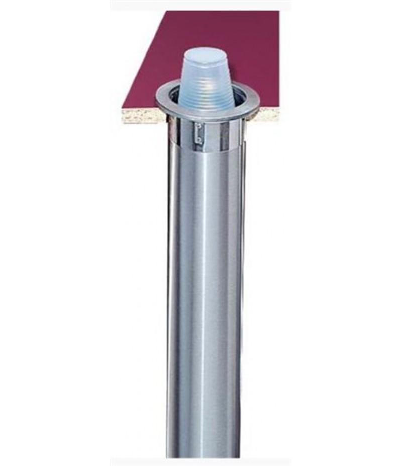Bekerdispenser Inbouw Verticaal/Schuin Ø70-98mm RVS San Jama