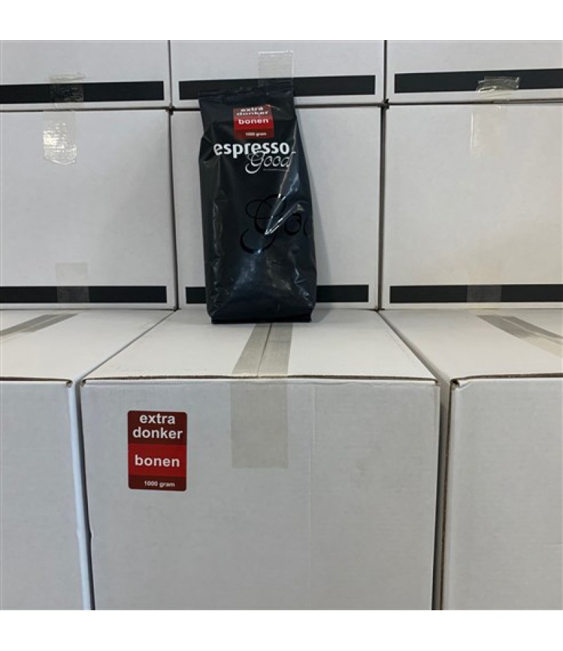 Espresso Good EXTRA Donker Bonen 8x1 Kilo