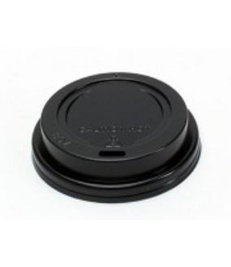 Koffiebeker Deksel Zwart Dome 80mm TBV 8-10oz 100 Stuks
