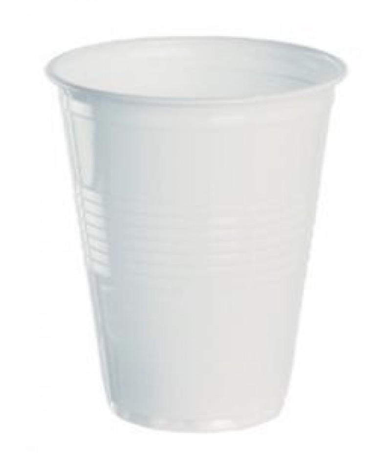 Drinkbeker Plastic 180cc Wit 100 Stuks