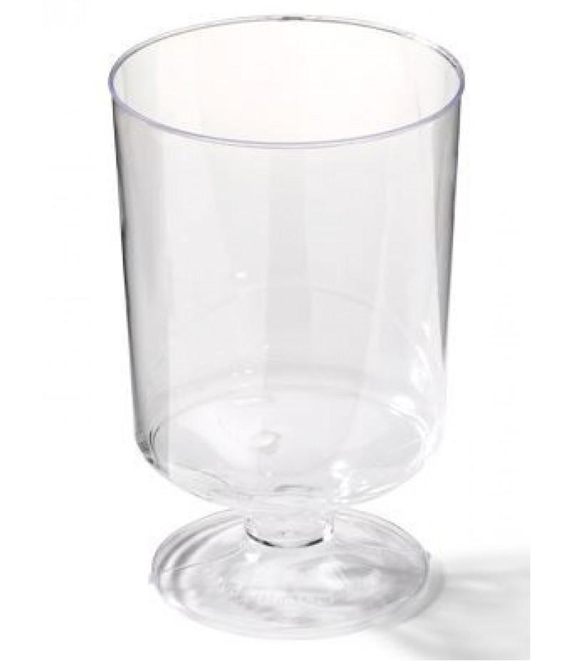 Wijnglas Op Voet Plastic 150cc 50 Stuks