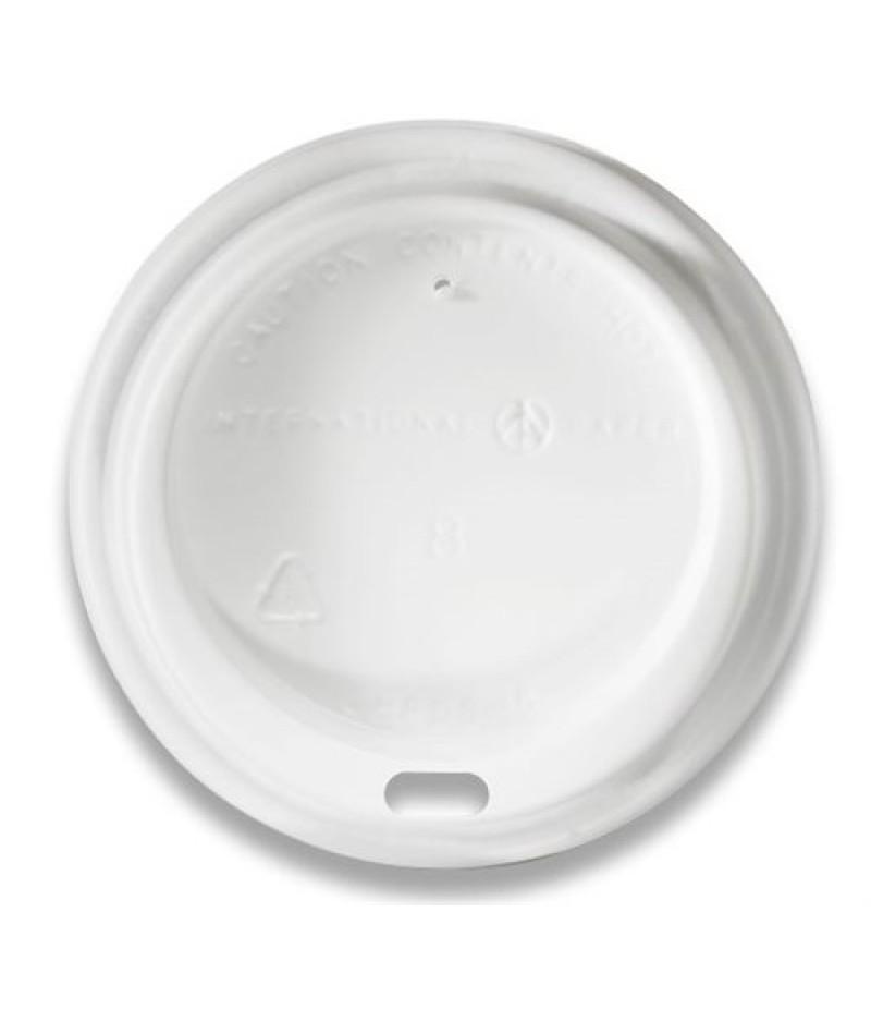Deksel Hot Cup Wit LHRDS-8 Dome Sip 100 Stuks