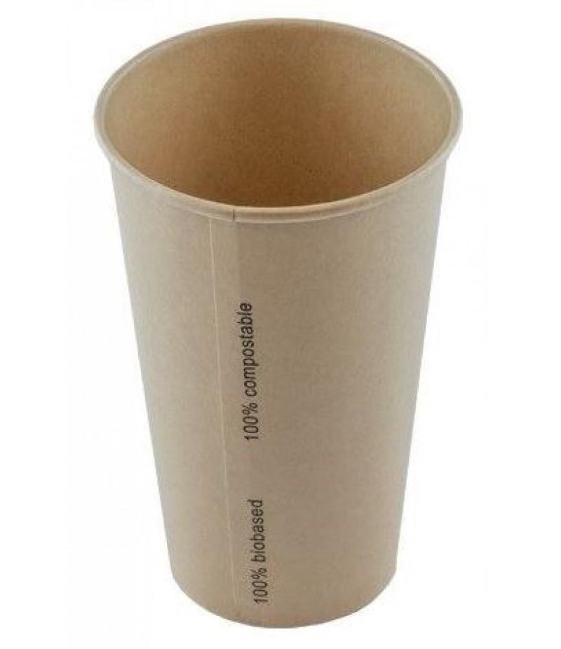 Milkshakebeker Bamboe Karton/PLA 16oz/480ml 20x50 Stuks ECO