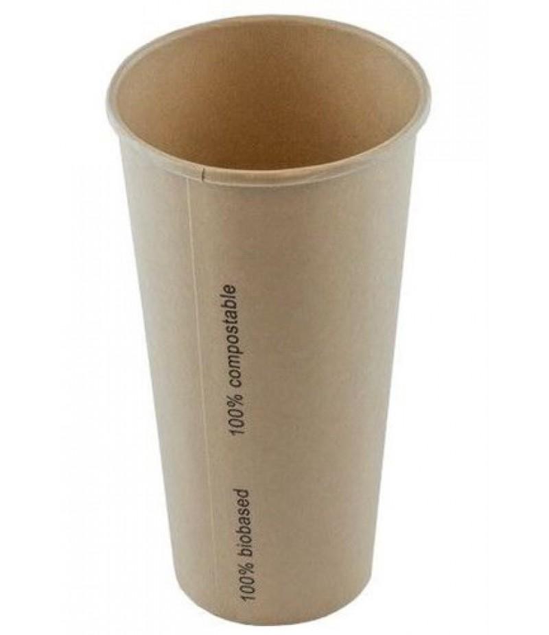 Milkshakebeker Bamboe Karton/PLA 22oz/660ml 20x50 Stuks ECO
