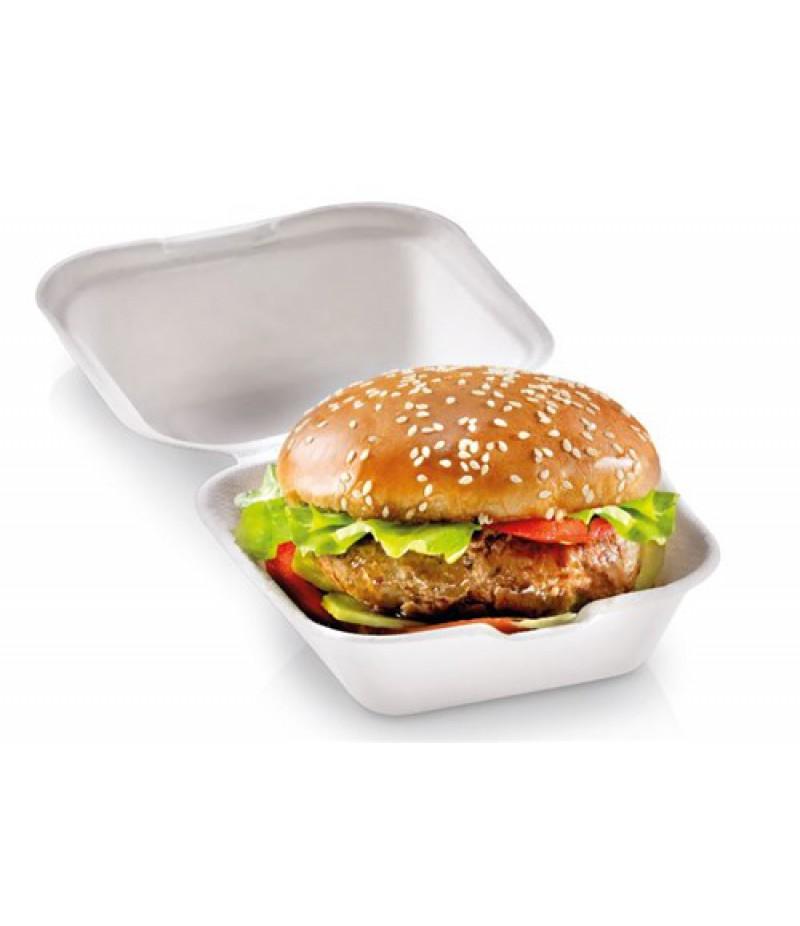Hamburger Bak Suikerriet Wit 1-Vaks 135x135x78 500 St 824320