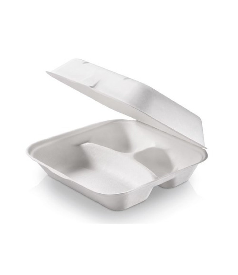 Menubox Suikerriet XL 3-Vaks 235x195x75mm 250 st. 825720