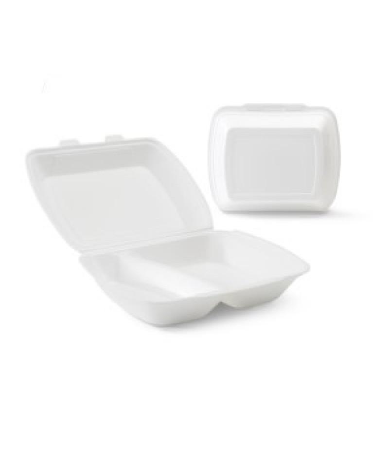 Lunchbox 2-Vaks Wit HP-4 100 Stuks