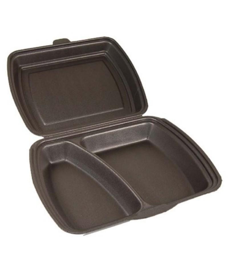 Lunchbox 2-Vaks Zwart HP-4 200 Stuks