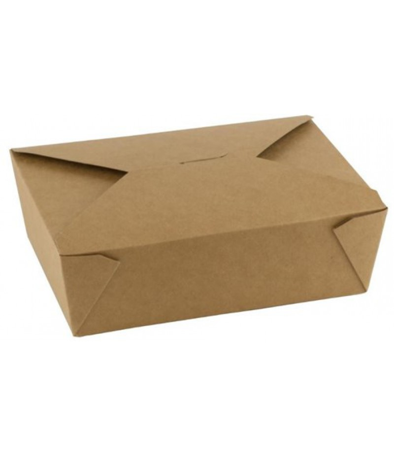 Take Away Box Kraft/PLA 1300ml/152x120x63mm 50 Stuks FSC®