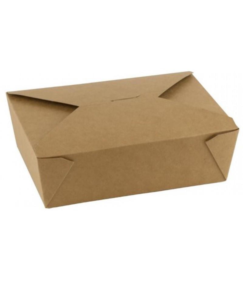 Take Away Box Kraft/PLA 1300ml 50 Stuks FSC® 846720