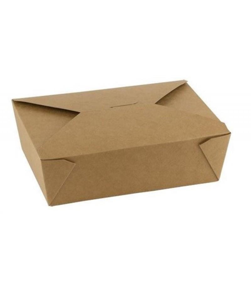 Take Away Box Kraft 2000cc 215x160x65mm 200 Stuks