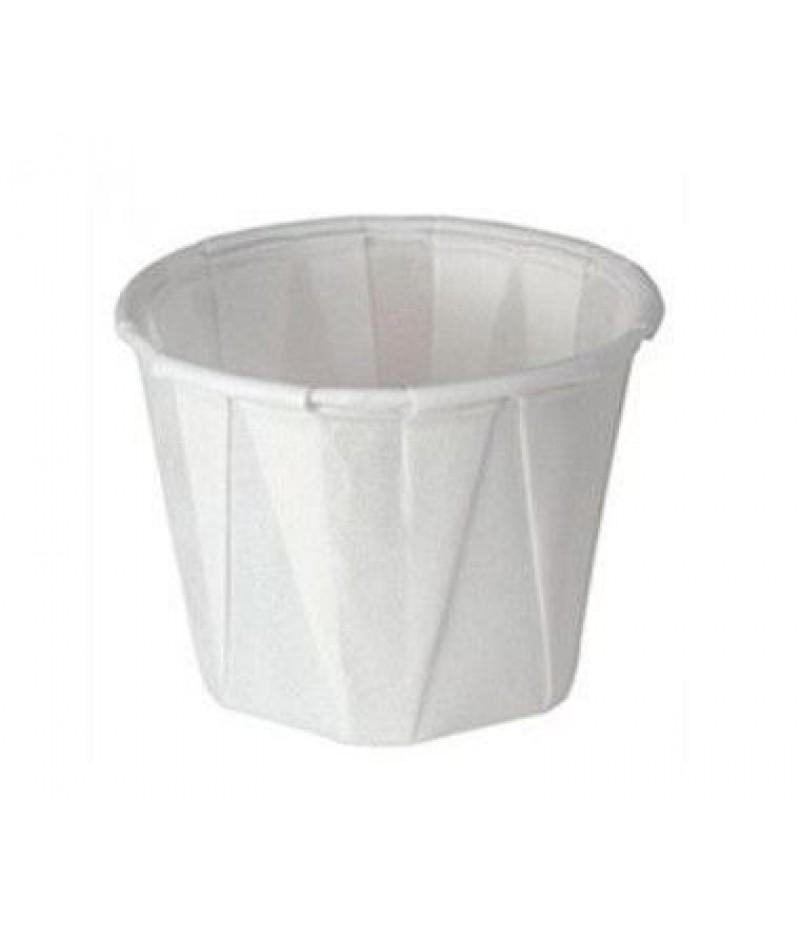 Sausbakje Wit Papier 3.1/4oz/100ml Ø6,5x3,5cm 5000 St.427420