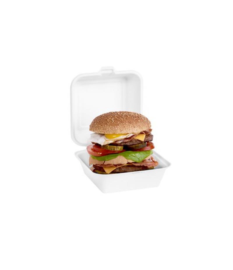 Hamburger Bak Suikerriet Wit 15,5x7,7cm 500 Stuks