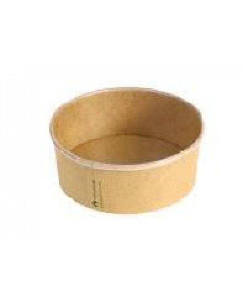 Saladebowl Kraft/PLA 360ml/12cmxØ4,5cm 50 Stuks