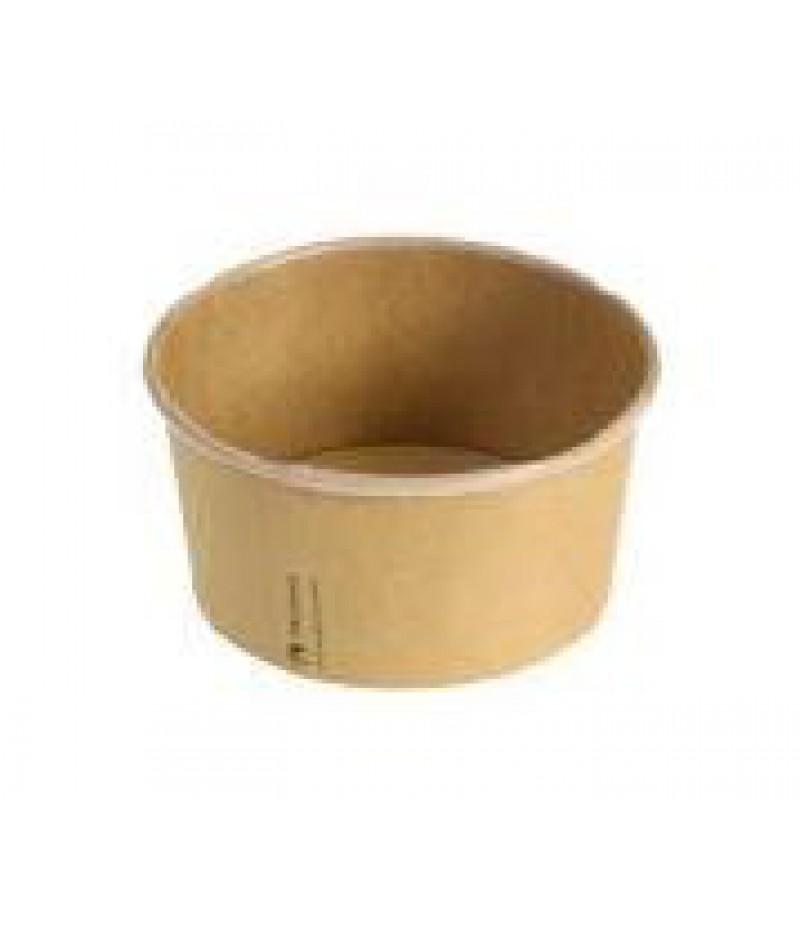 Saladebowl Kraft/PLA 480ml/12cmxØ6cm 50 Stuks 437120
