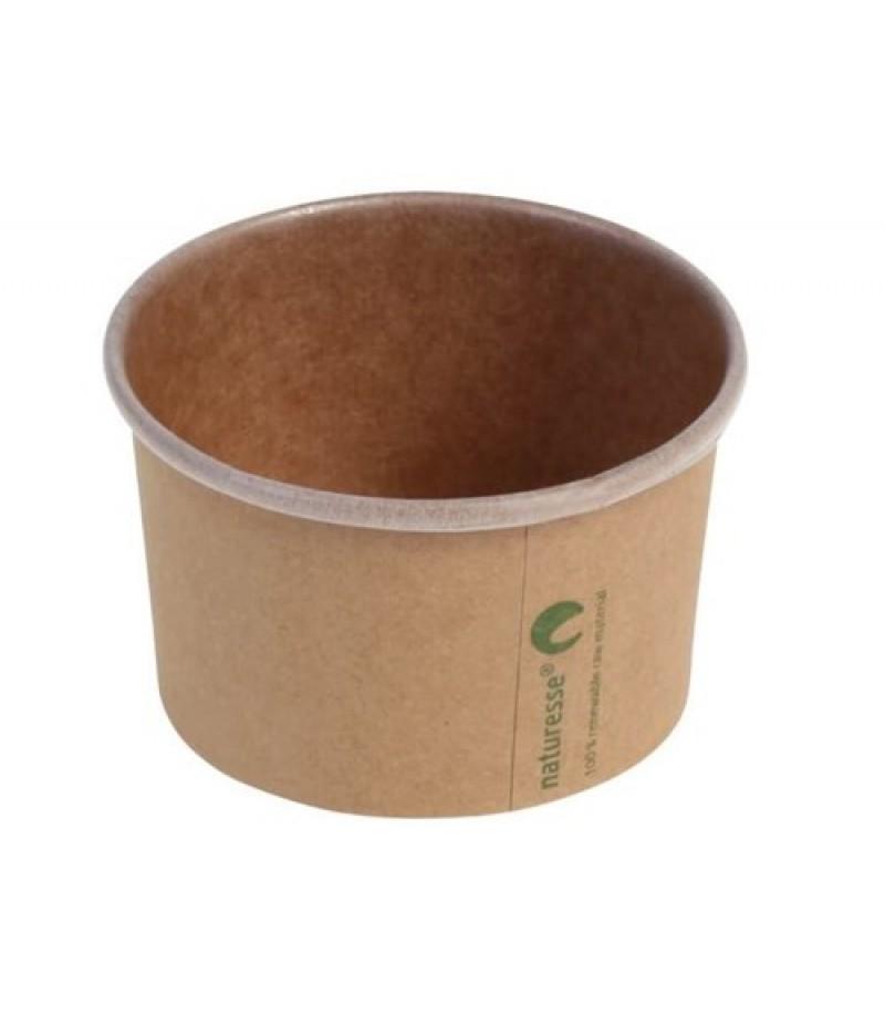 Foodcontainer Kraft/PLA 3oz/90ml/Ø75mmx45mm 50 Stuks