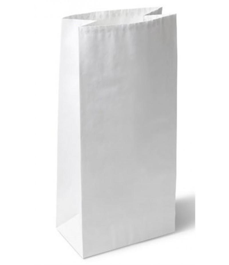 Kipzak Aluminium Gevoerd (Hele Kip) 13+8x28cm Wit 500 Stuks