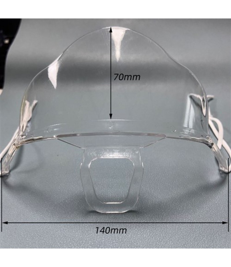 Mondkapje Transparant 140x70mm Verpakt In Polyzakje Per Stuk