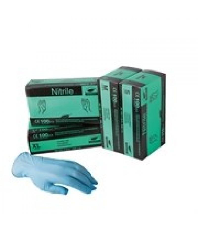 Handschoen Nitril Maat M Blauw Ongep.100 Stuks