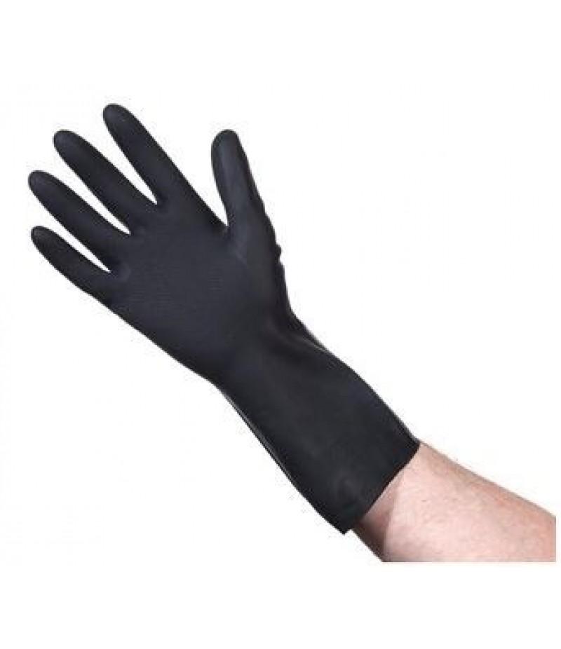 Handschoen Schoonmaak/Onderhoud Latex Zwart Maat L 8-9