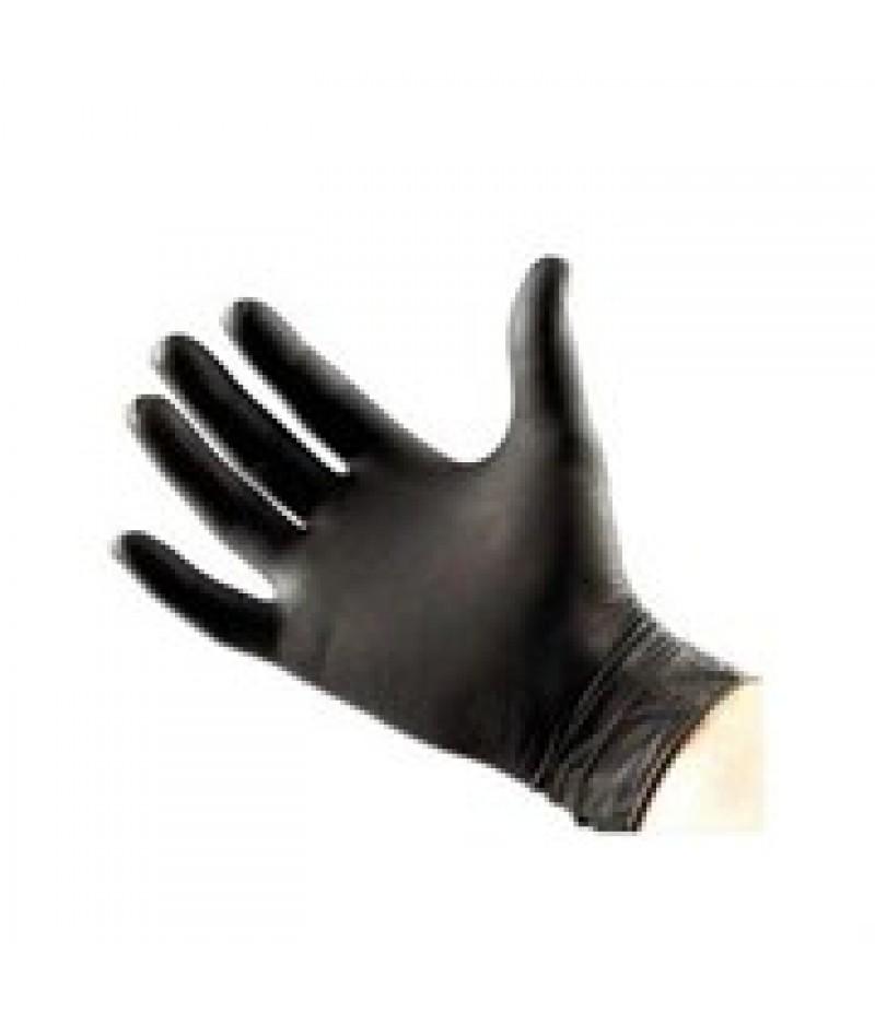 Handschoen Nitril Maat L 8-9 Zwart Ongep.100 Stuks