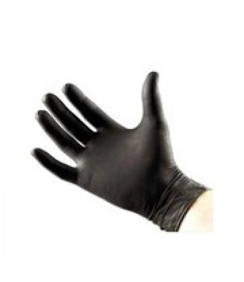Handschoen Nitril Large 8-9 Zwart Ongep.100 Stuks