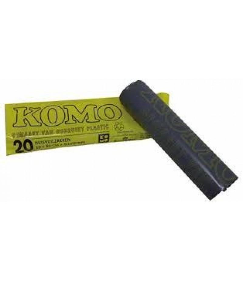 Vuilniszak Zwart Komo 60x80cm 20x20 Stuks