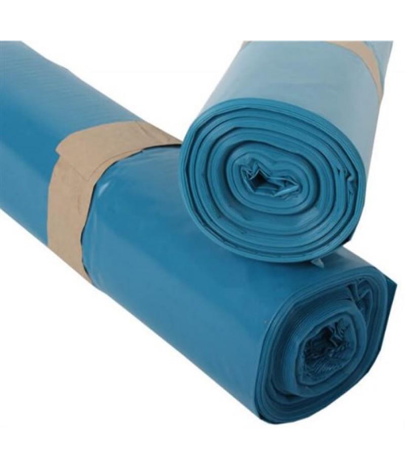 Vuilniszak Blauw 65/25x140cm 70mu 10x10 Stuks