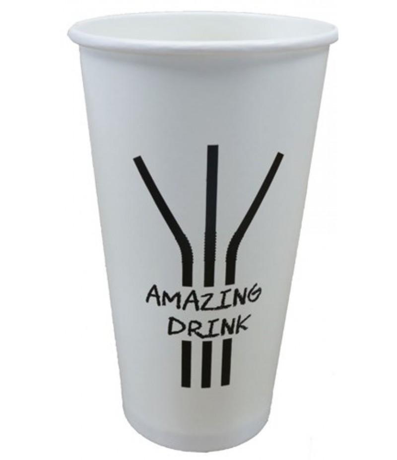 Milkshakebeker 400cc/16oz Amazing Drink Doos 20x50 Stuks