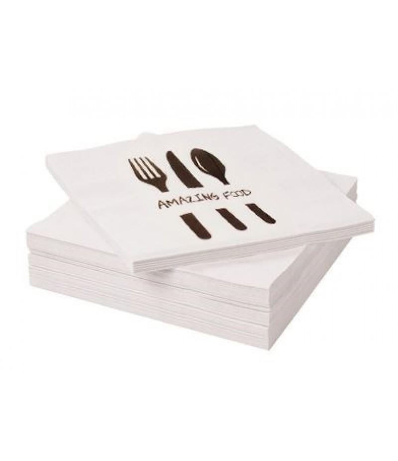 Servet Amazing Food 33x33cm 1-Laags 4000 Stuks