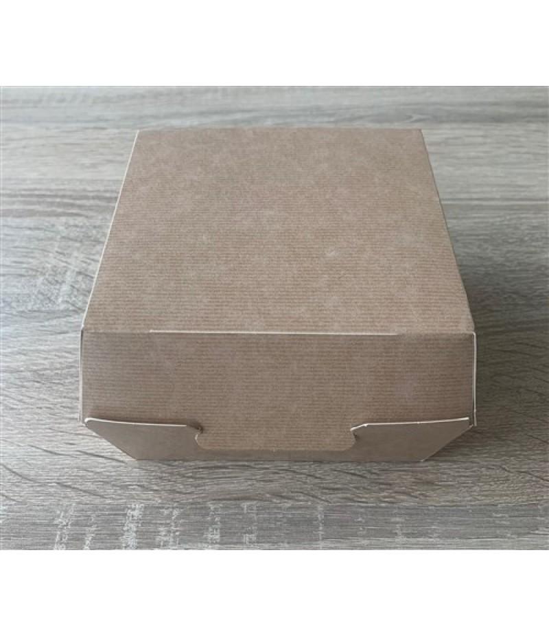 Hamburger Bak Kraftlook Karton 155x155x80mm 270 Stuks