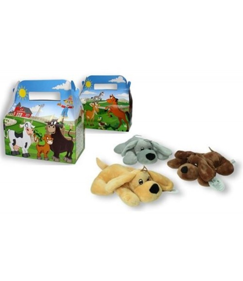 Kindermenudoosjes Boerderij met Pluche Hondje 24 stuks