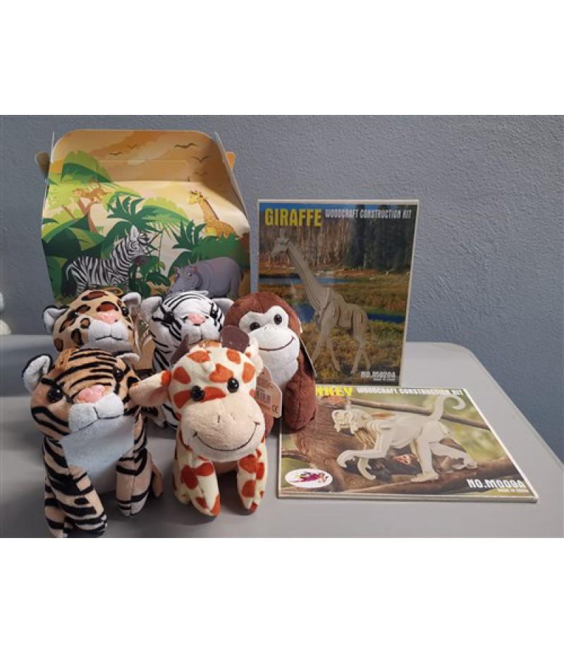 Kindermenudoosjes Jungle Puzzels & Knuffels  24 Stuks