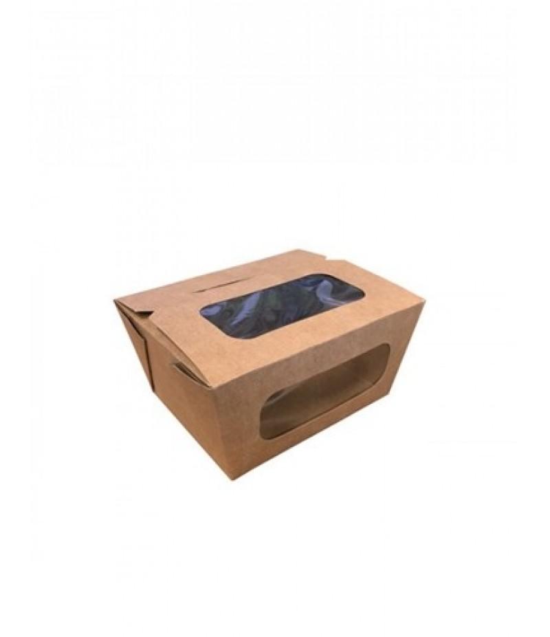 Vensterdoosje Kraft/PLA 750ml/110x90x63mm 50 Stuks FSC®