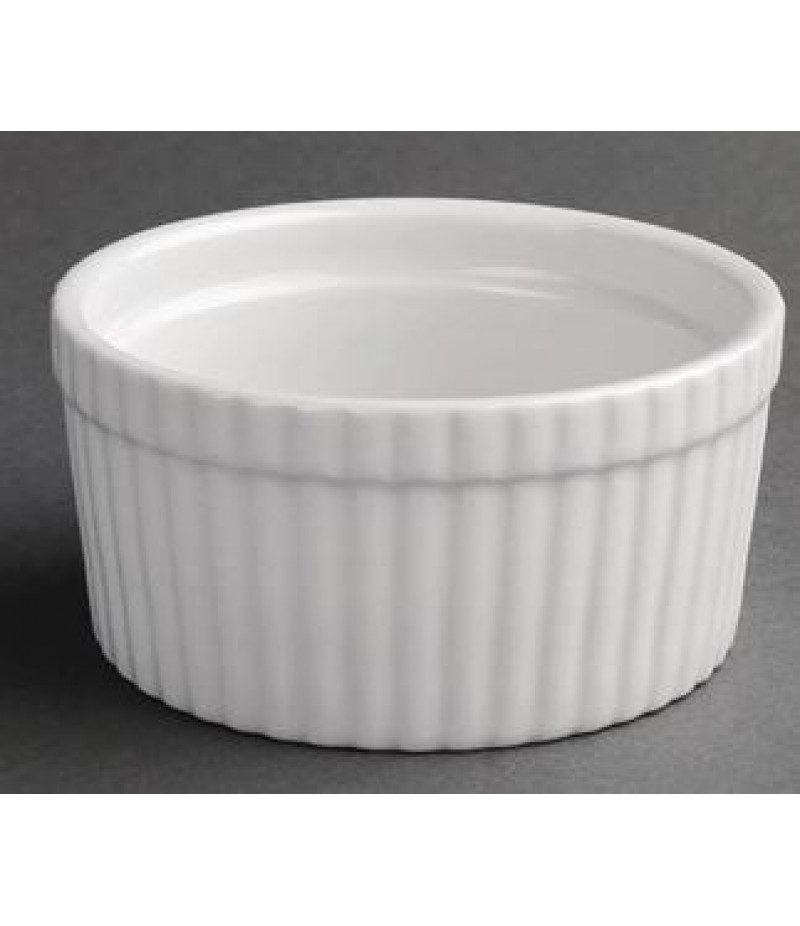 Souffléschaaltjes 4,4x10,5(Ø)cm Olympia Whiteware 6 Stuks