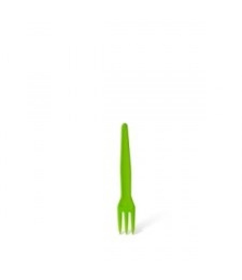 3-Tand Frietvorkje Plastic Groen 5000 Stuks