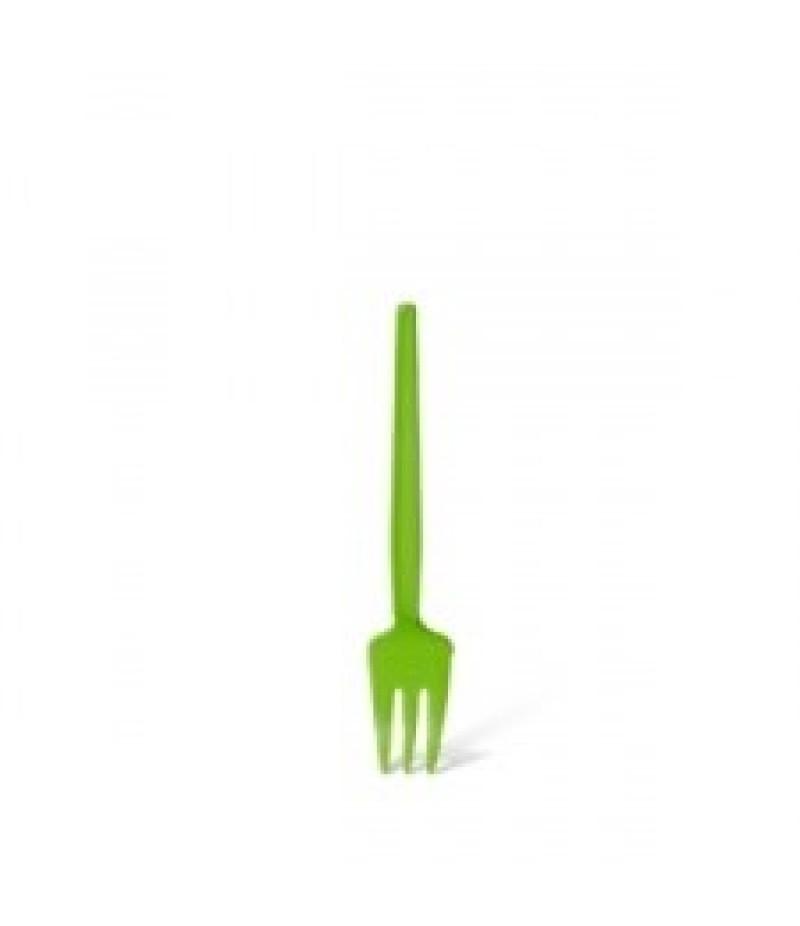 Snackvork Plastic Met Snijkant Groen 1000 Stuks