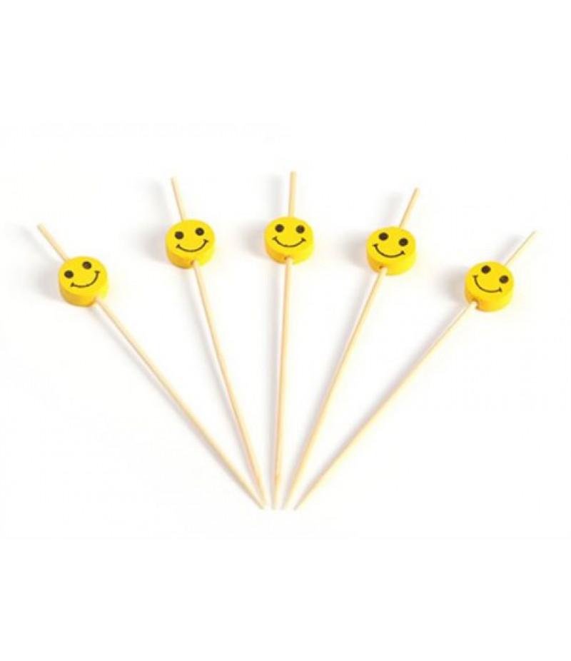 Prikker Bamboe Met Smiley 120mm 150 Stuks 31174
