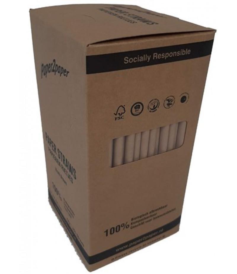 Milkshakerietjes Paper2Paper Bruin 23,5mmx8mm 250 Stuks 1336