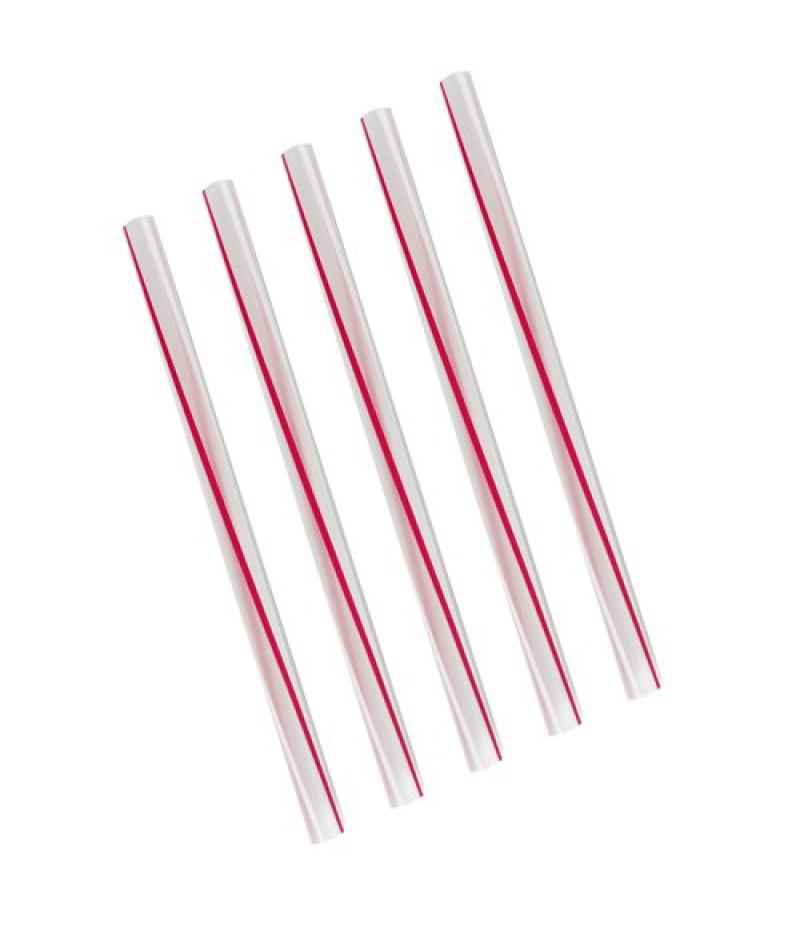 NIC Milkshakerietjes Rood/Gestreept 21cm/12mm 500 Stuks