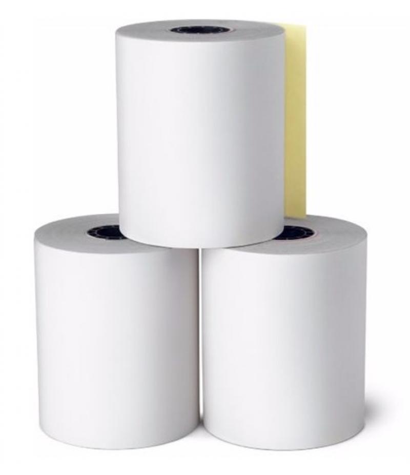 Duplorollen Wit/Geel 76x70x12mm 25 Meter 50 Stuks
