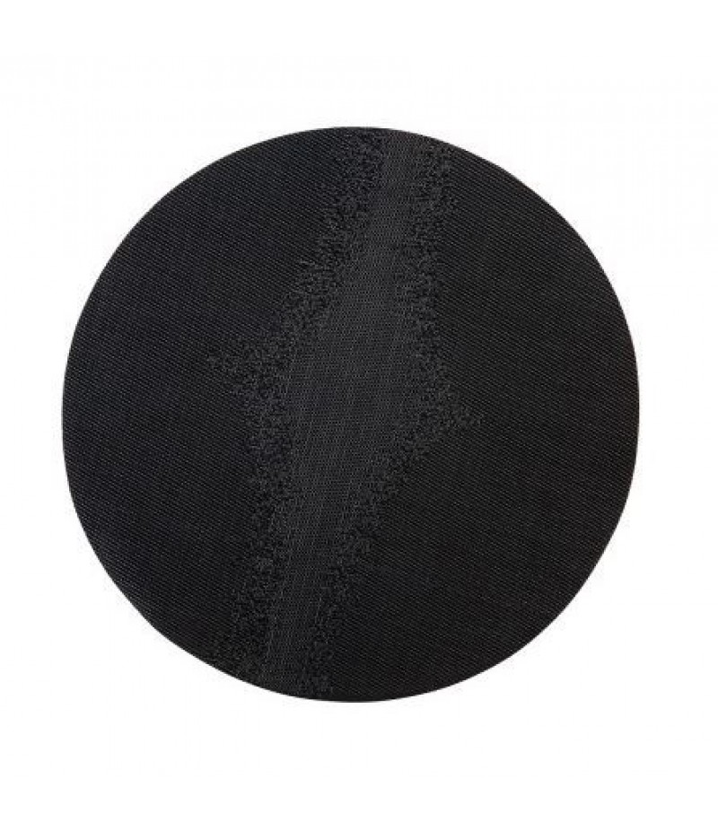 Placemat Rond Zwart 38cm Per 6 Verpakt