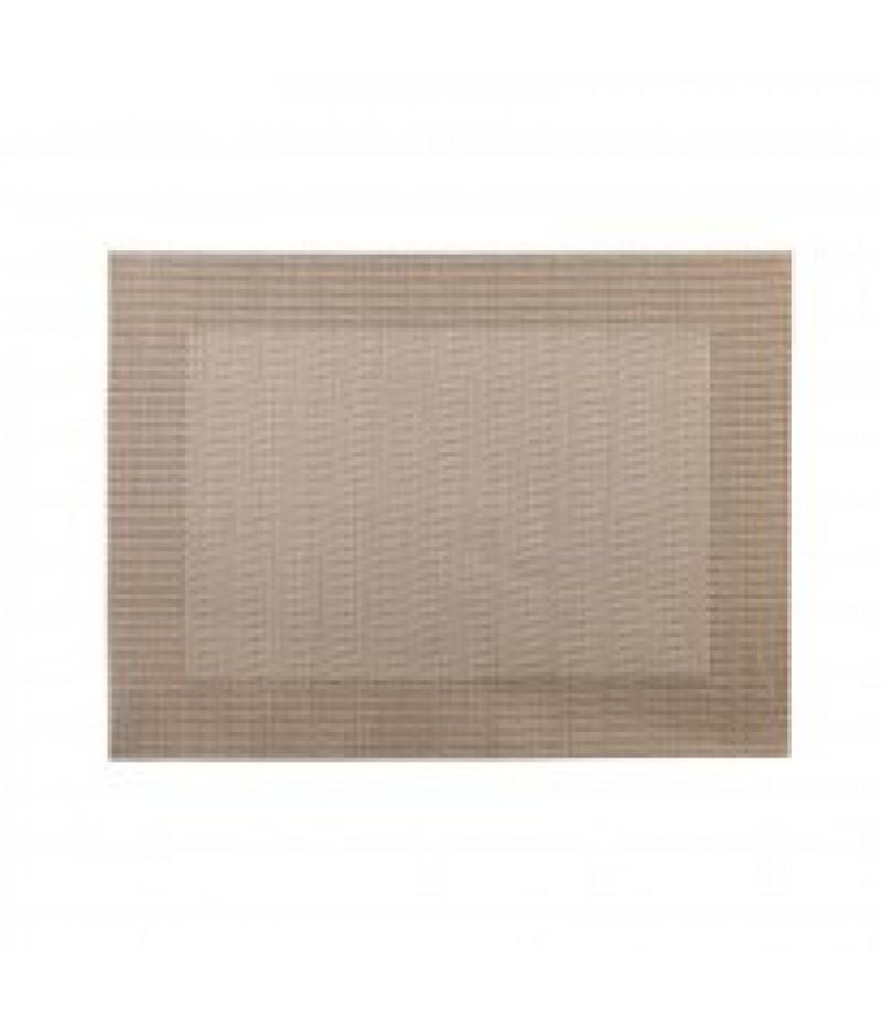 Placemat Rechthoekig Zilver/Koper 45x33cm Per 6 Verpakt